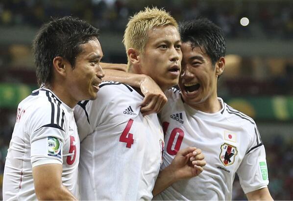 香川、本田、長友