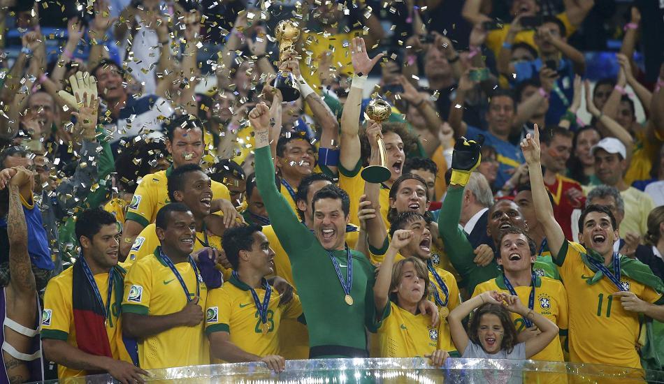 優勝したブラジル代表