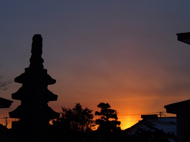20140209夕焼け