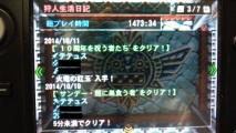 MH4 ギルドカード 狩人生活日記 1473時間34分 2014 1011