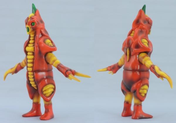 赤色甲殻人 ジャバラ:左斜め前、右斜め後ろ