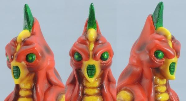 赤色甲殻人 ジャバラ:顔アップ