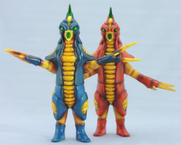 赤色甲殻人と青色甲殻人ジャバラ:1