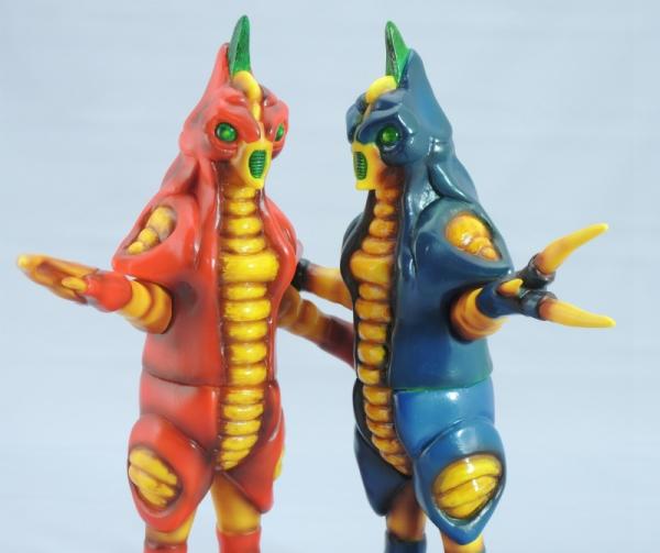 赤色甲殻人と青色甲殻人ジャバラ:3