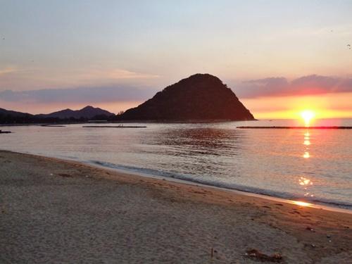 菊が浜夕景