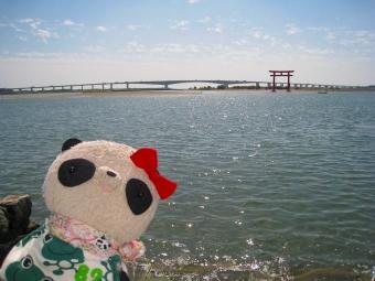 おばぶ弁天島海浜公園にて