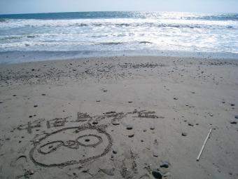 砂浜のおばぶ