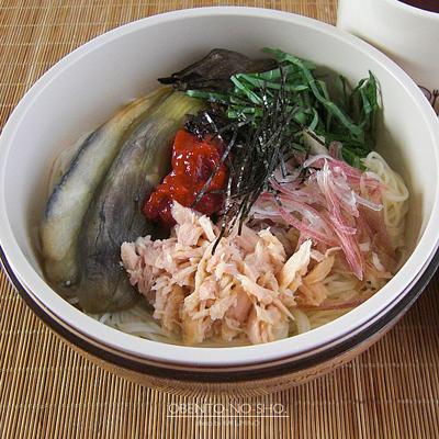 焼き茄子とツナの素麺弁当02