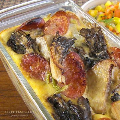 茸と白菜の豆乳キッシュ風弁当02