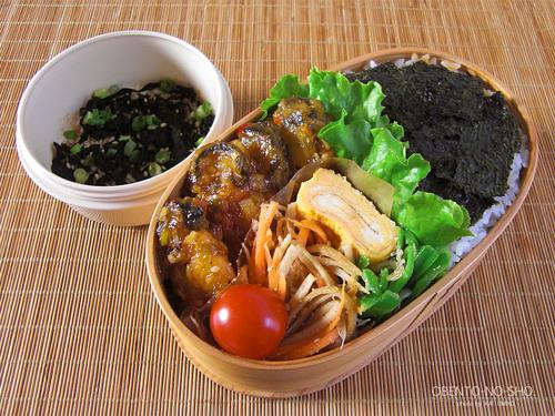 牡蛎の甘辛炒め弁当01