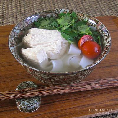 太麺フォー&柿のサラダ弁当01