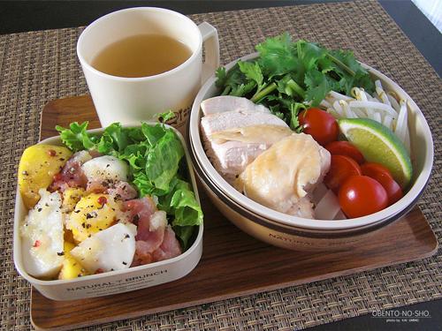 太麺フォー&柿のサラダ弁当02