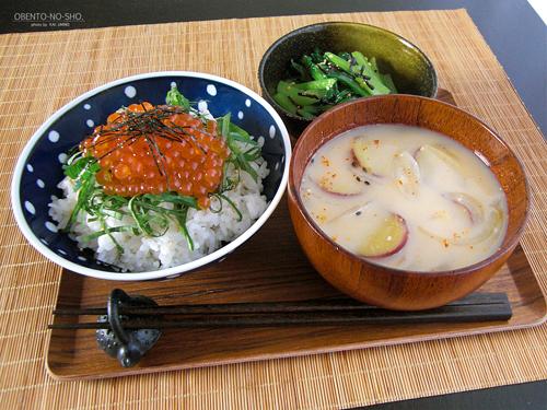 いくら丼2014*おウチご飯01