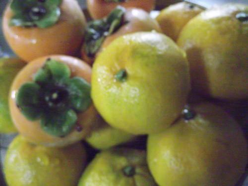 20131106みかん柿