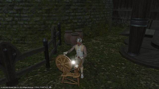 狩った糸を紡いだり