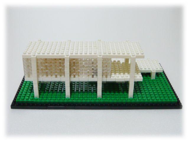 nanoblock/ファンズワース邸[ミース・ファン・デル・ローエ]