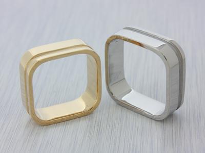 【Oreficeria高林】浜松市オーダーメイドの婚約指輪(エンゲージリング)・結婚指輪(マリッジリング)/四角いマリッジリング