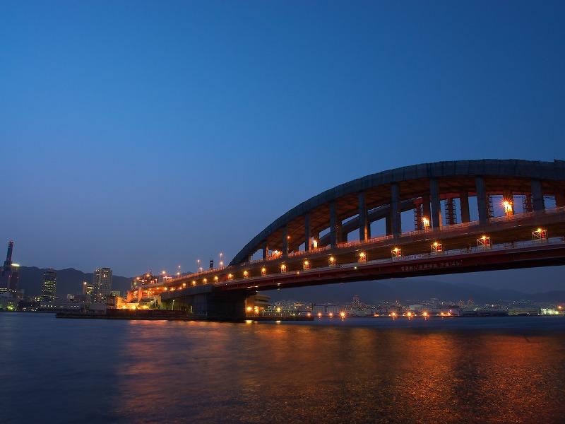 ポートアイランド北公園 神戸大橋 夜景