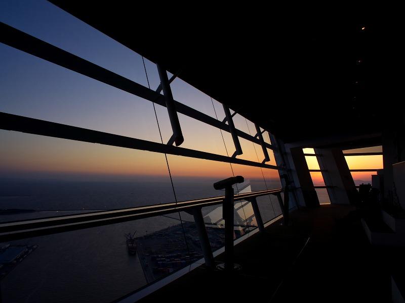大阪府咲洲庁舎 展望台 夕陽 夕景