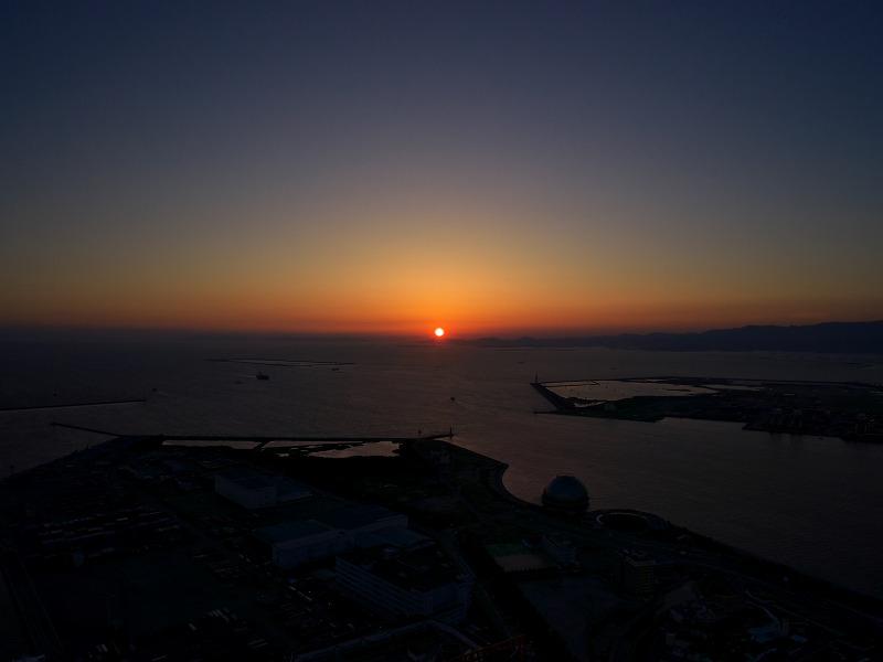 大阪府咲洲庁舎 展望台 夕焼け 夕景