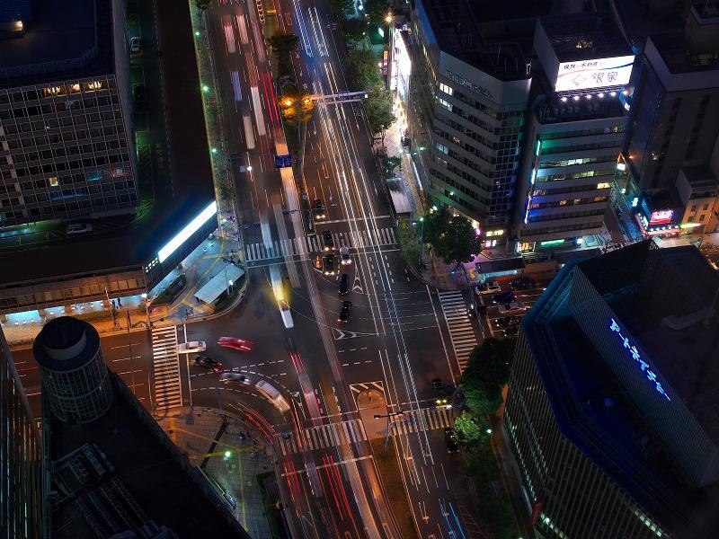 ブリーゼタワー 33F 展望ロビー 夜景