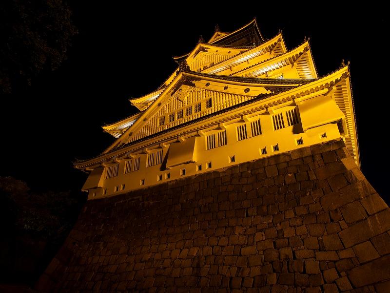 大阪城 オレンジリボン オレンジ色
