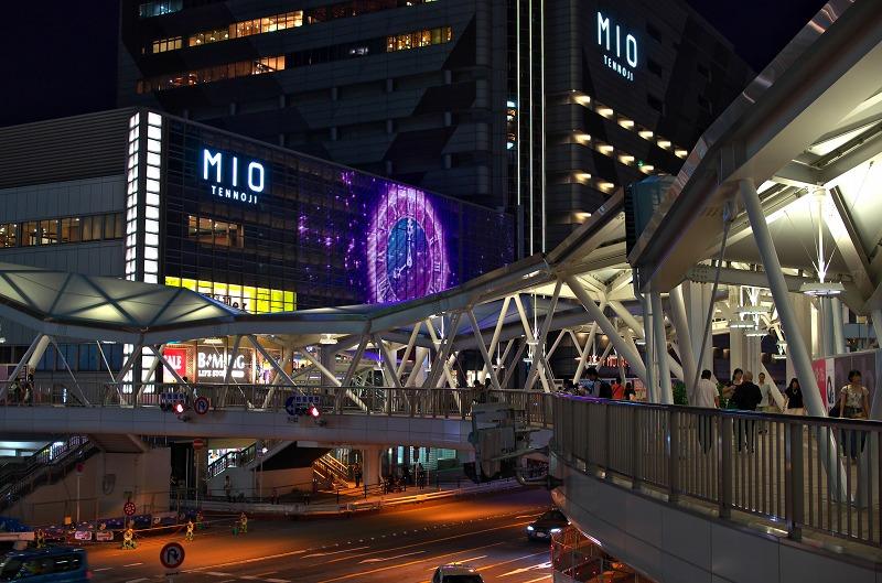 阿倍野歩道橋 夜景