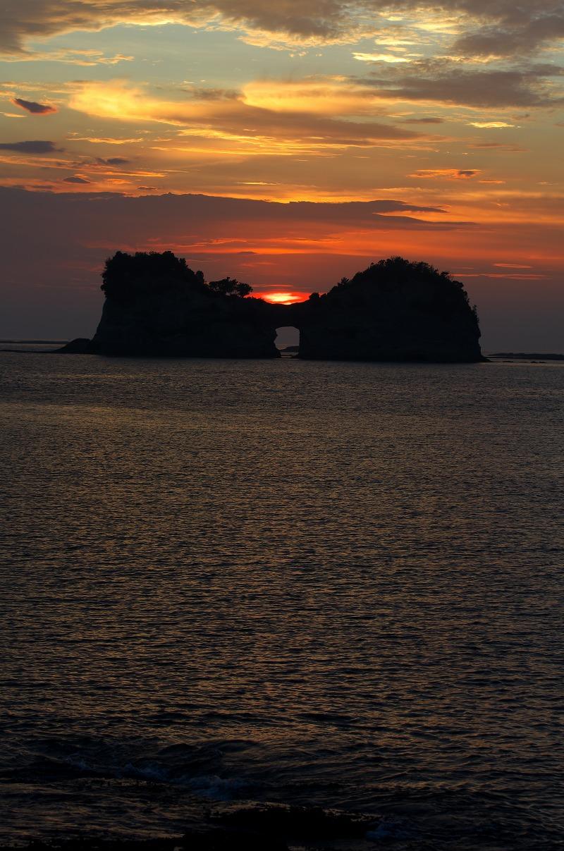 白浜 円月島 夕焼け 夕陽