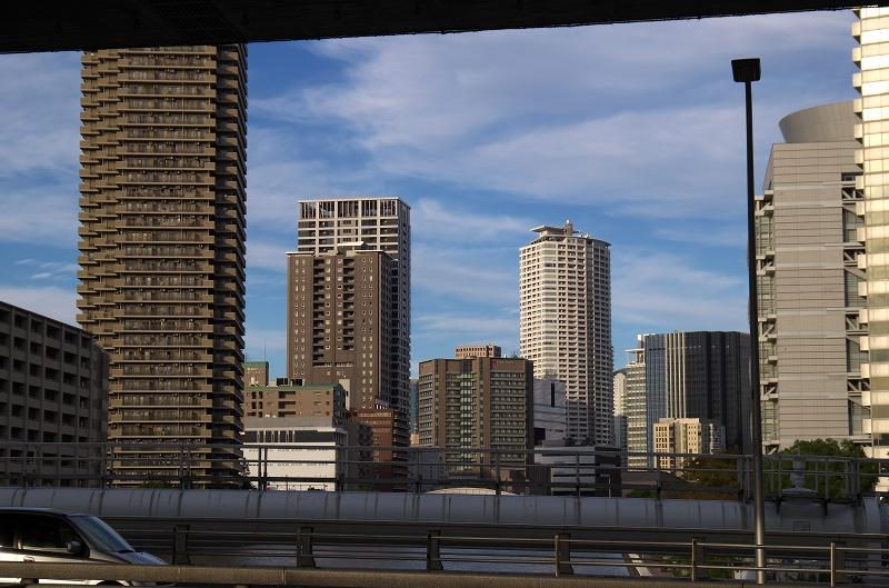 中之島西 湊橋 阪神高速高架