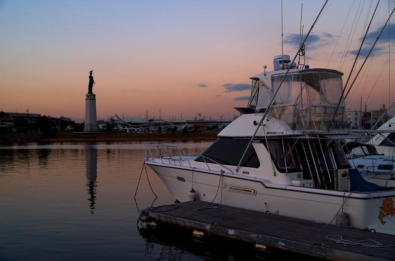 旧堺港 ヨットハーバー 夕陽 夕焼け