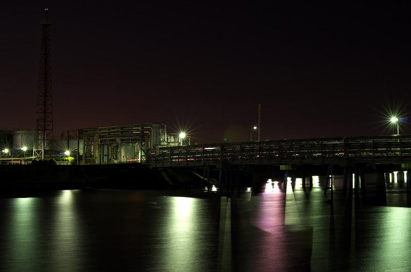 四日市工業地帯 大正橋 工場夜景