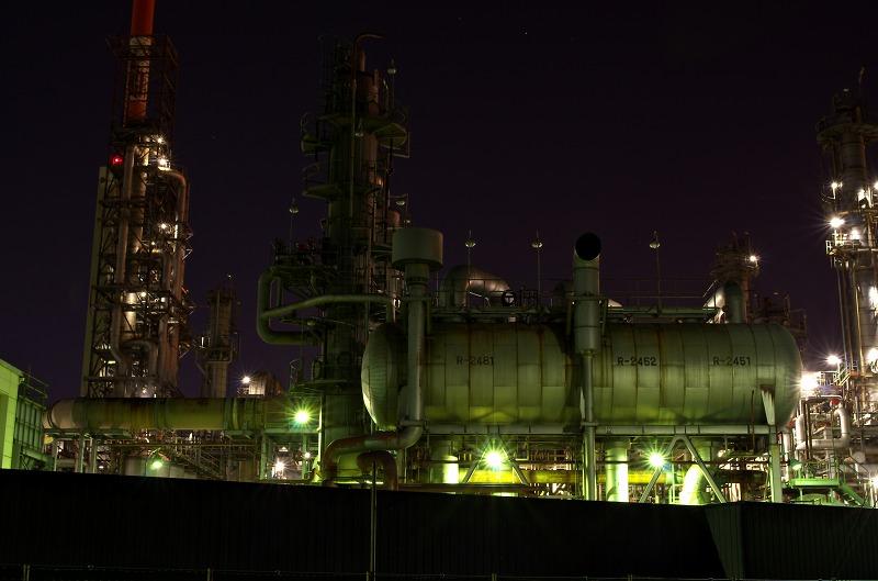 四日市工業地帯 塩浜地区 工場夜景