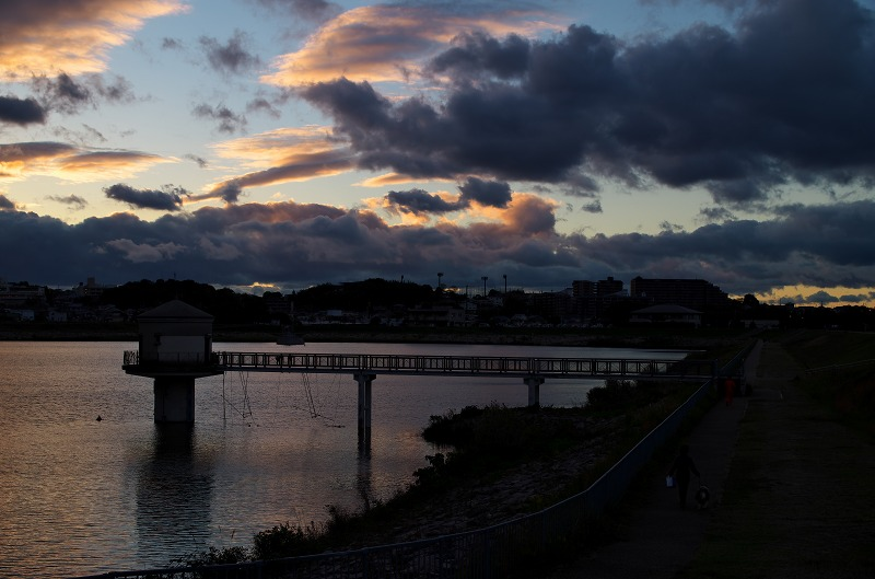 狭山池 夕焼け空