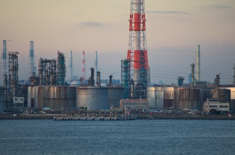 泉大津大橋から見る堺泉北臨海工業地帯