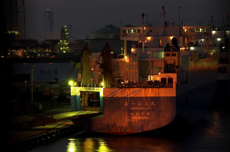 泉大津大橋から見る堺泉北臨海工業地帯 夜景