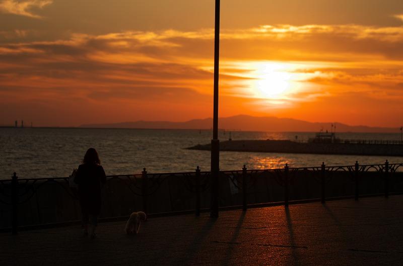 二色の浜公園 夕陽