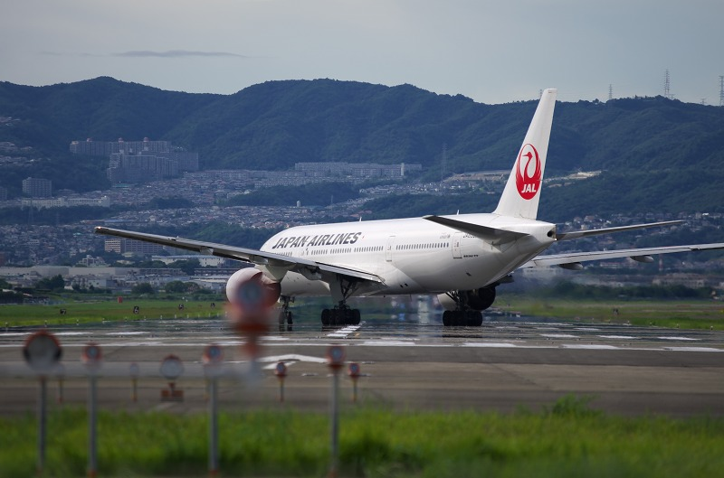千里川河川敷 飛行機