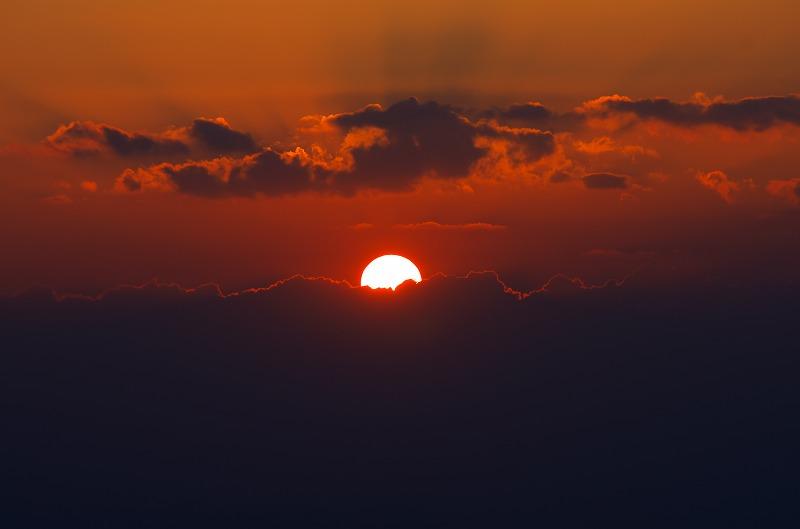 章魚頭姿山展望台からの眺望 夕陽