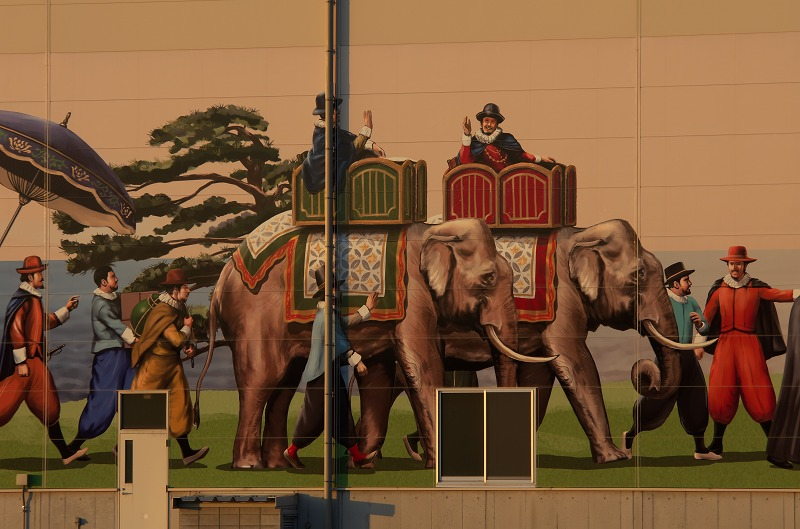 旧堺燈台 堺泉北港 巨大壁画