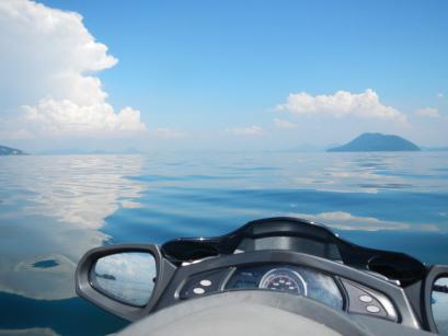 この日の瀬戸内海は超静かでした