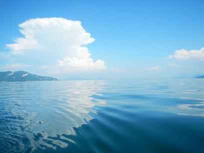 海がピカピカでキレー