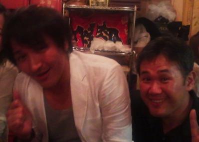 試合後、スリムクラブ真栄田氏とラグビー談議
