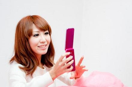 画像メール携帯女性