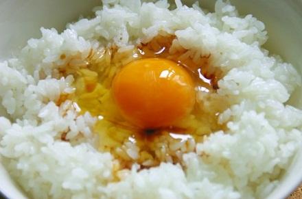 画像卵かけご飯