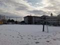 雪のグラウンド