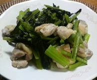 小松菜と鶏肉