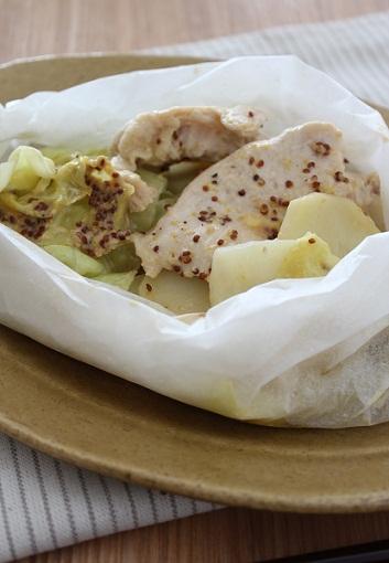 チキンとポテトとキャベツのマヨマスタード4