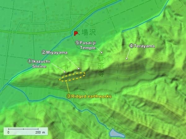 Obazawa Castle topography