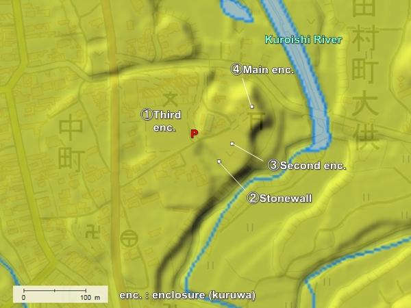 Moriyama Castle topography