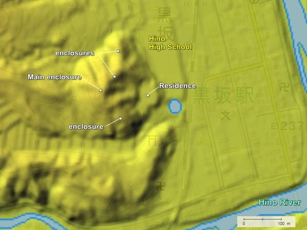 Kagamiyama Castle topography